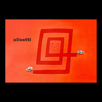 Olivetti logo with hands and machines